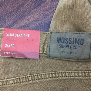 Mossimo Pants - MOSSIMO SUPPLY CO Mens NEW Tan Slim Straight Pants